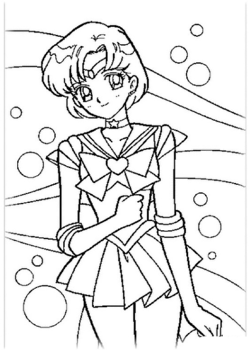 Moon Coloring Page Coloring Sailor Moon Page Small Hearts