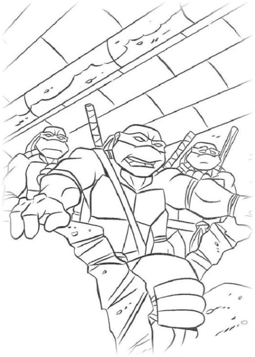 Schöne Ausmalbilder Malvorlagen Teenage Mutant Ninja Turtles