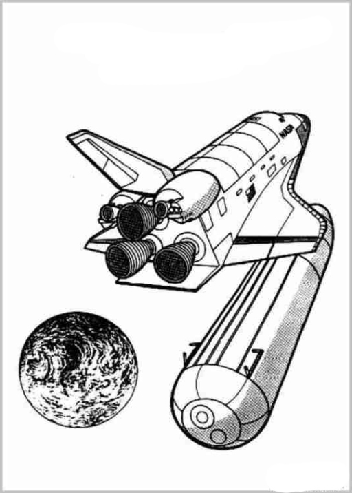 Space Shuttle Challenger Coloring Pages
